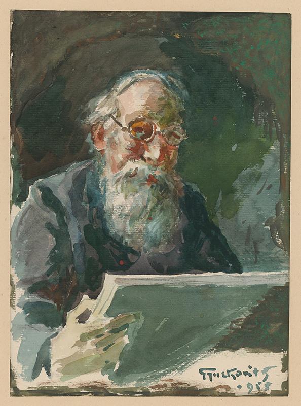 František Gyurkovits – Autoportrét, 1955, Stredoslovenská galéria