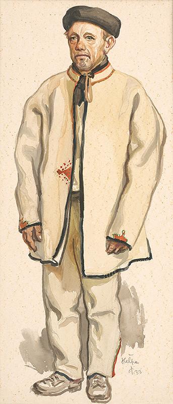 Jaroslav Vodrážka – Heľpa - Štúdia muža v kroji