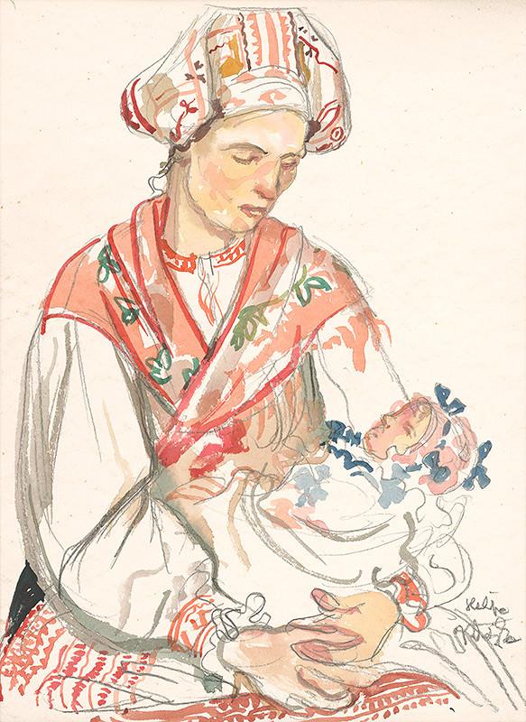 Jaroslav Vodrážka - Žena s dieťaťom - Heľpa