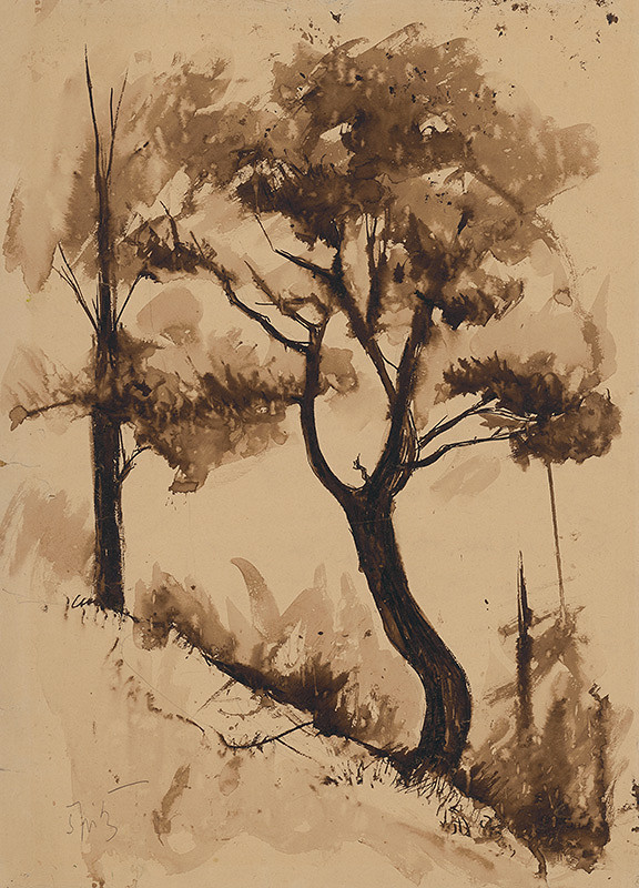 Ernest Špitz – Stromy na svahu