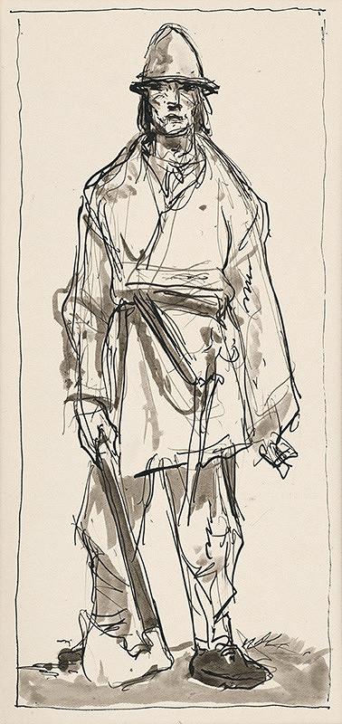 Jaroslav Vodrážka - Figurálna štúdia XVII.