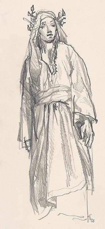 Jaroslav Vodrážka - Figurálna štúdia XXXI.