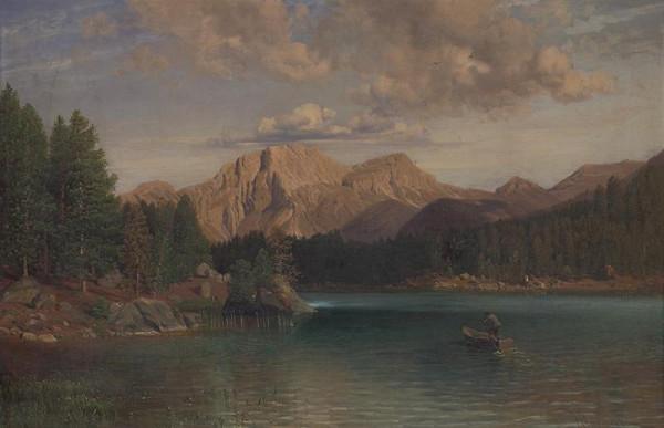 Anton Hlaváček - Krajina pri jazere