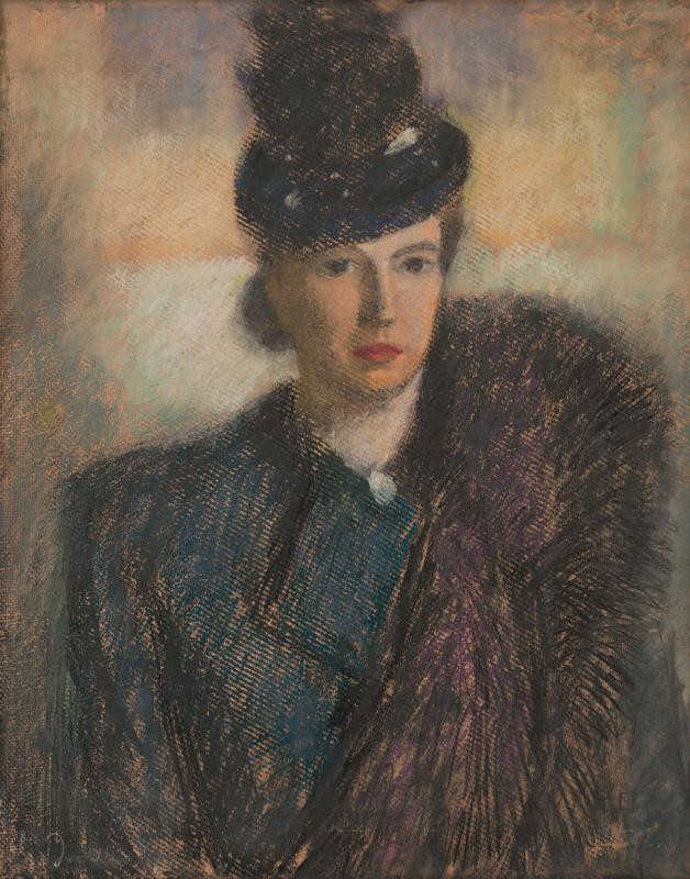 Janko Alexy, Portrét pani Chrobákovej, 1938