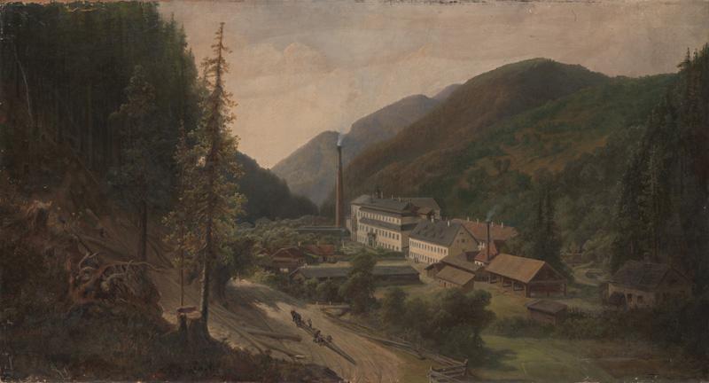 Károly Telepy – Harmanecká papiereň, 1884, Stredoslovenská galéria