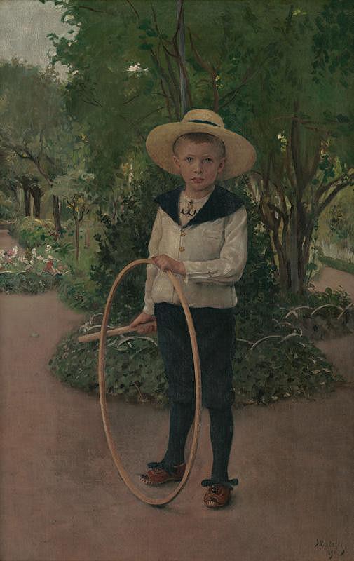 Dominik Skutecký - Dieťa v záhrade
