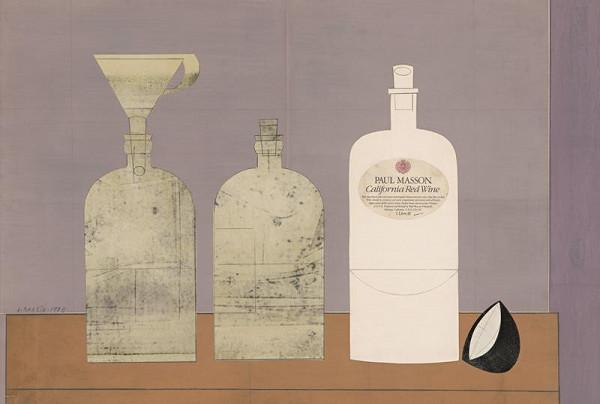Andrej Barčík - Zátišie s fľašami
