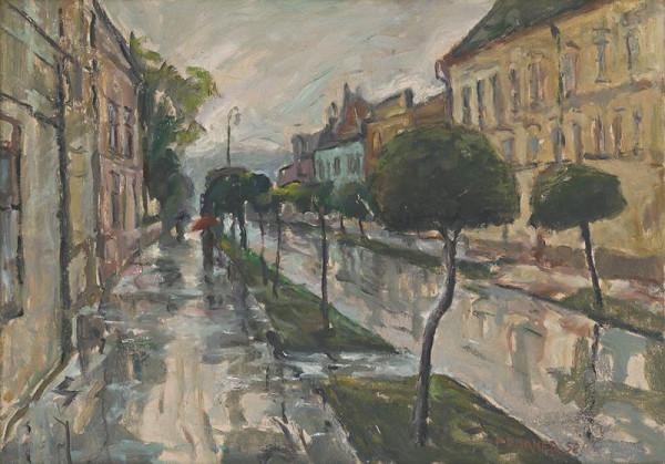 Štefan Prukner - Ulica v daždi