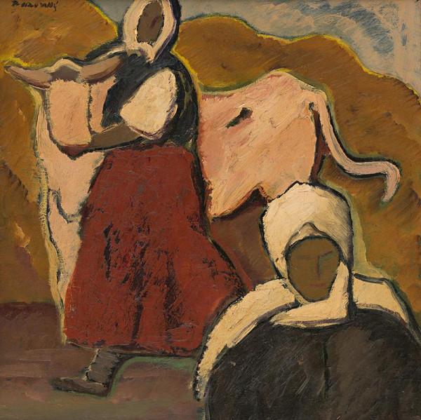 Miloš Alexander Bazovský - Ženy s kravou
