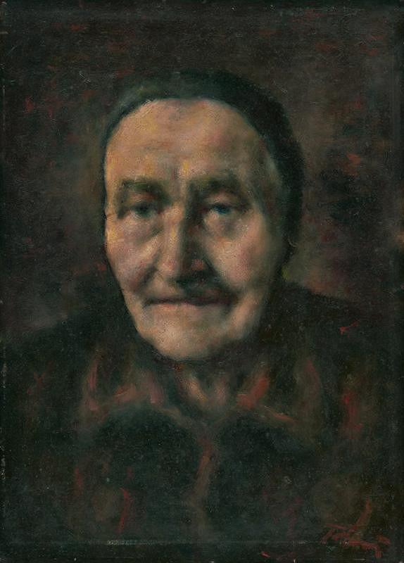 Viliam Ruttkay-Nedecký - Portrét starej ženy