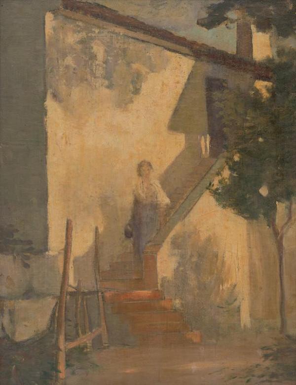 Eduard Putra - Žena na schodoch