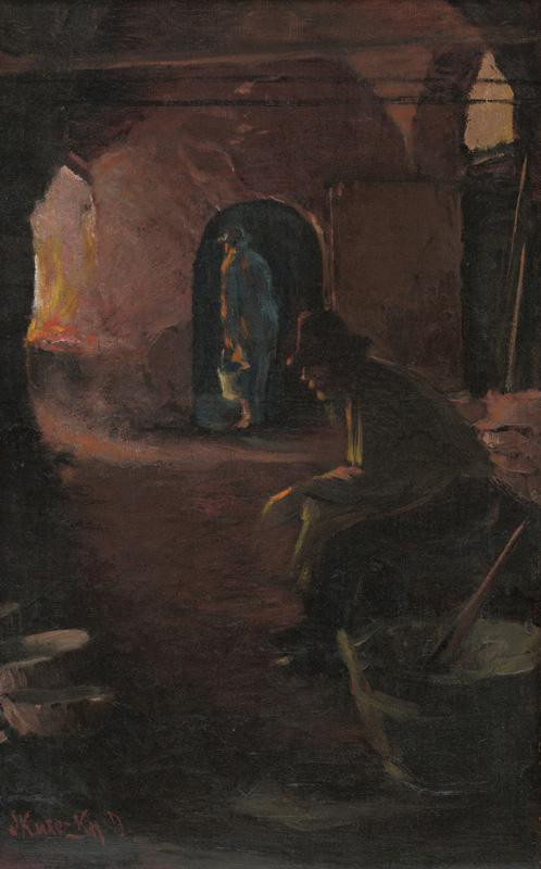 Dominik Skutecký – Odpočívajúci kotlár, 1918, Stredoslovenská galéria