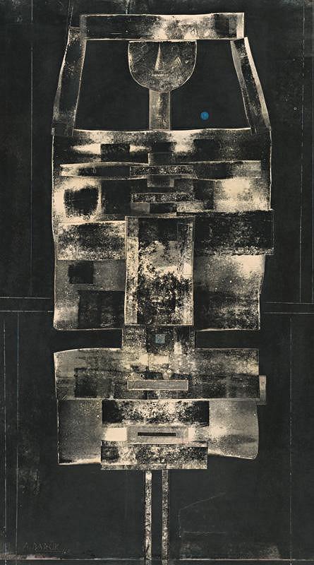 Andrej Barčík - Figúra v čiernom pozadí