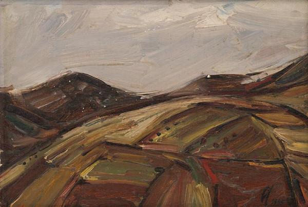 František Studený - Povstalecká krajina s bielou oblohou