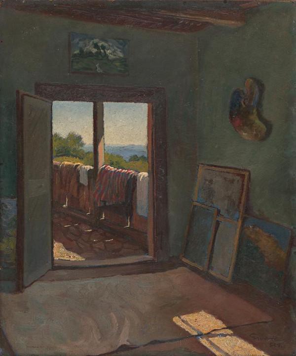 Edmund Gwerk - Výhľad z atelieru