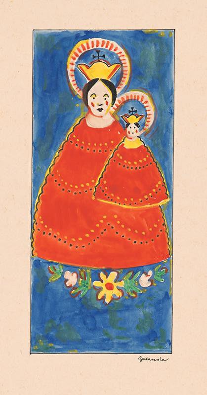 Mikuláš Galanda - Madona s dieťaťom