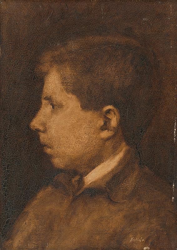 Jozef Kollár – Štúdia hlavy chlapca