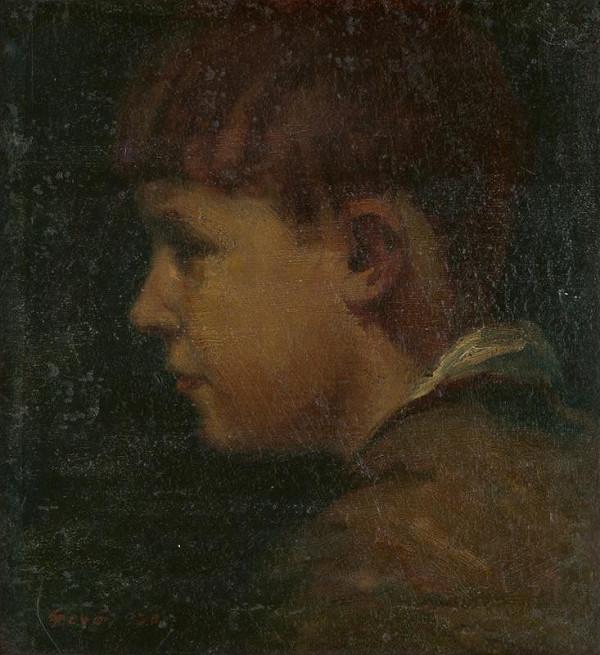 Gustáv Gerö - Chlapčenský portrét