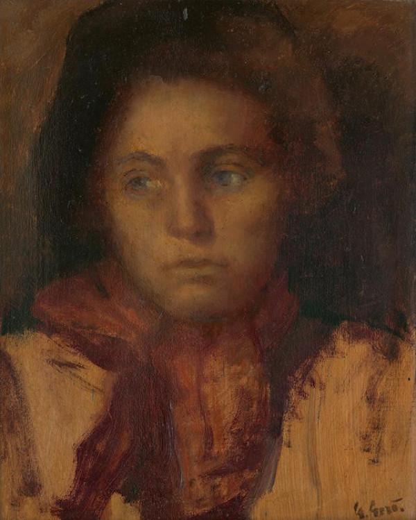 Gustáv Gerö - Štúdia ženskej hlavy