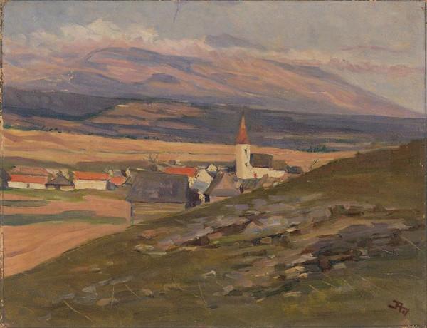 Jaroslav Augusta – Pohľad na starý Važec