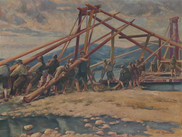Anton Djuračka - Stavba mosta