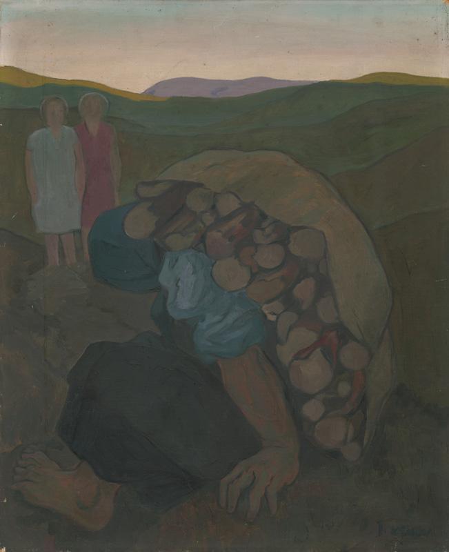 Imrich Weiner-Kráľ – Žena s drevom, 1935 – 1940, Stredoslovenská galéria
