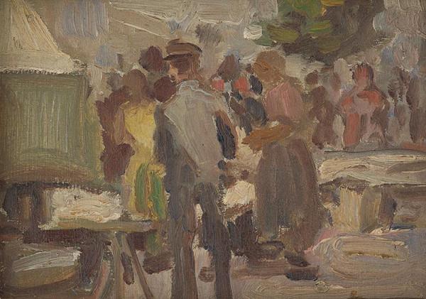 František Gyurkovits - Scénka z trhu