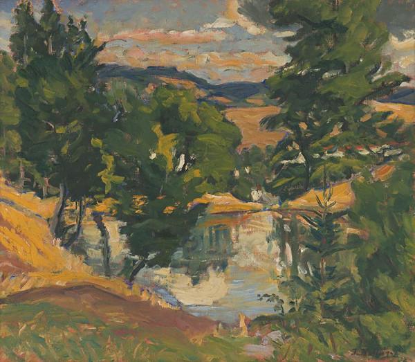 Jozef Kollár – Krajina s rybníkom