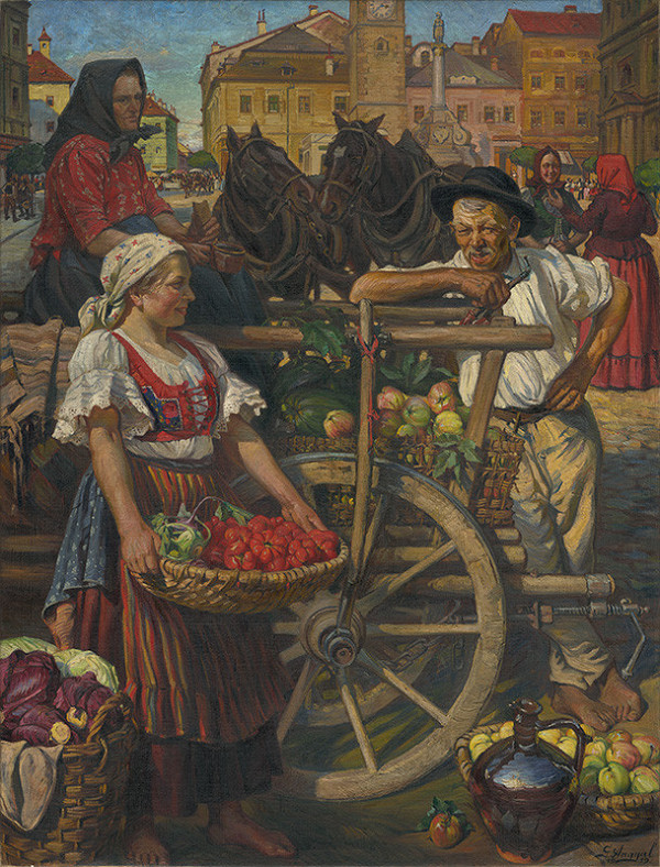 Gejza Angyal - Ovocný trh v Banskej Bystrici