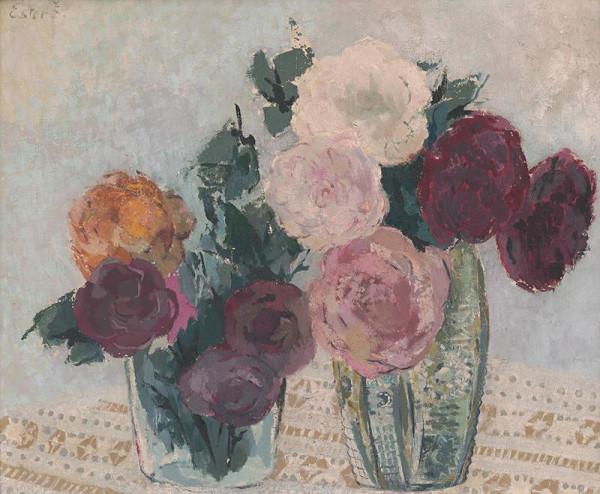 Ester Šimerová-Martinčeková – Zátišie s ružami