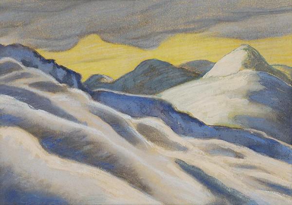 Edmund Gwerk - Zimná krajina