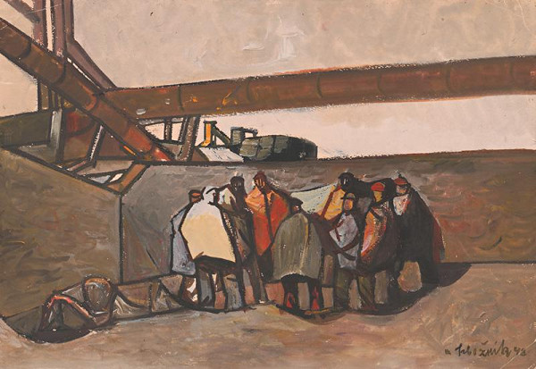 Vincent Hložník - V továrni