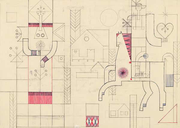 Oto Opršal - Kresba ku gobelínu