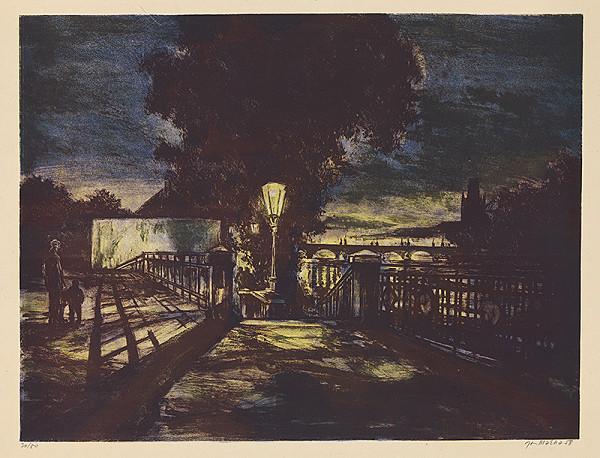 Jan Mácha - Karlov most v noci