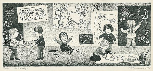Kvetoslava Fulierová – Prvé kresby
