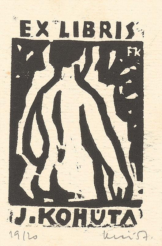 Fero Kráľ - Ex libris J.Kohúta