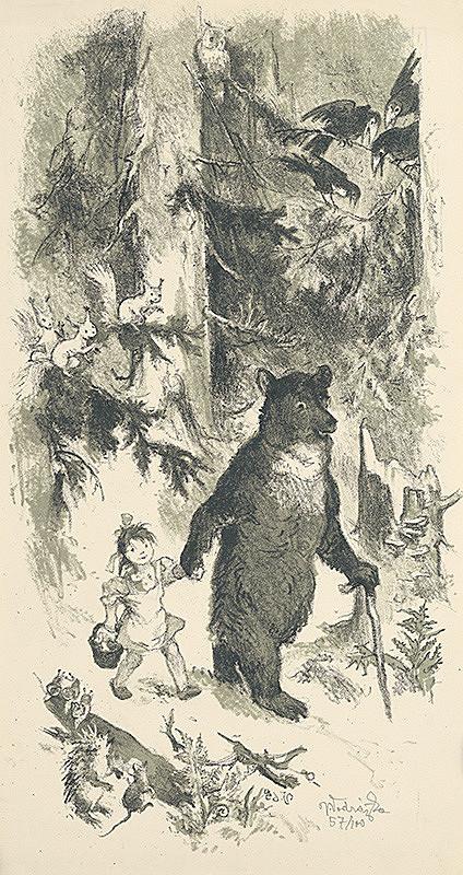 Jaroslav Vodrážka – Medveď s dievčatkom