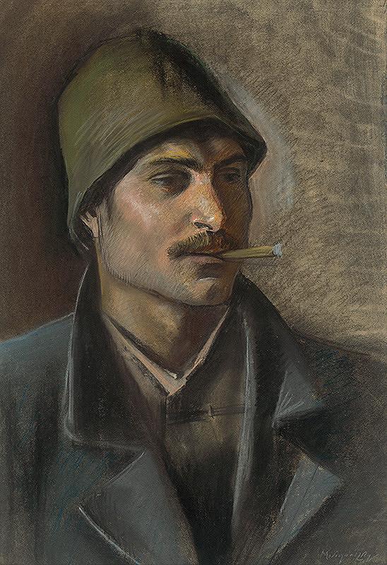 Ladislav Mednyánszky - Štúdia hlavy cigána