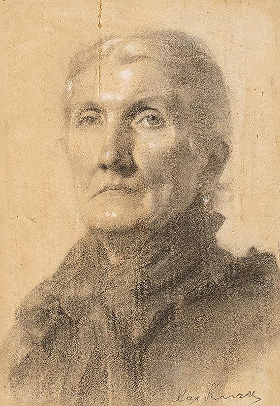 Maximilián Kurth - Štúdia hlavy staršej ženy