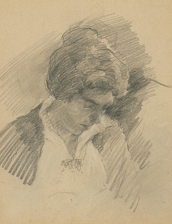 Andor Borúth - Žena so sklonenou hlavou