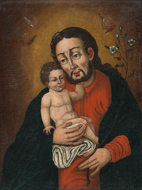 Neznámy autor - Svätý Jozef s Ježiškom