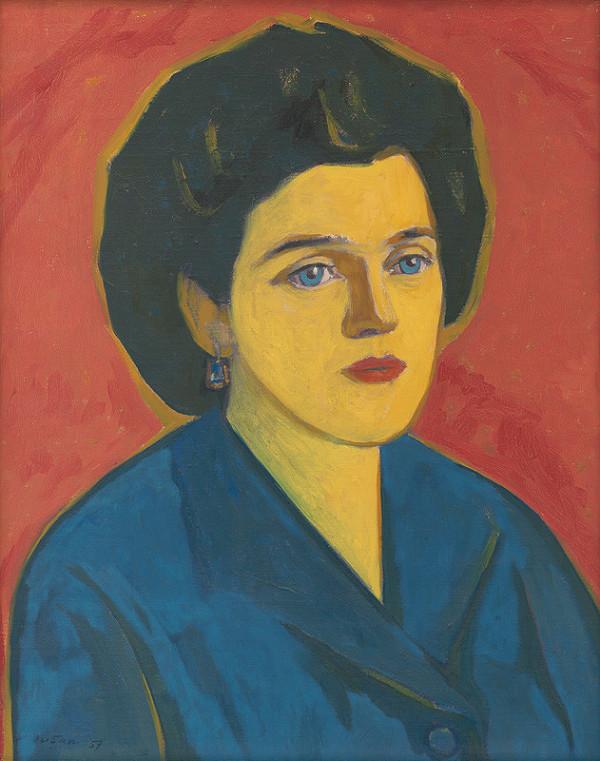 Július Muška – Portrét manželky