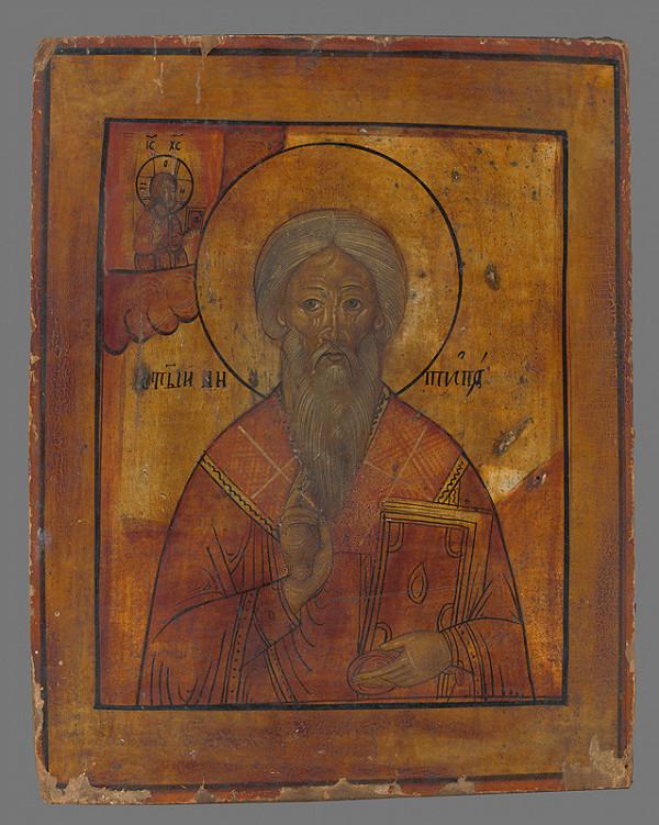 Neznámy autor - Svätec (ikona)