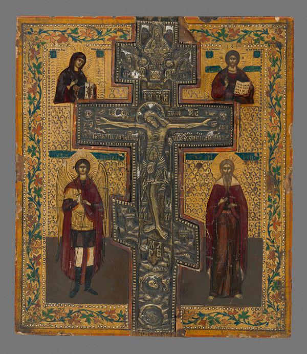Neznámy autor - Ukrižovanie so svätcami (ikona)