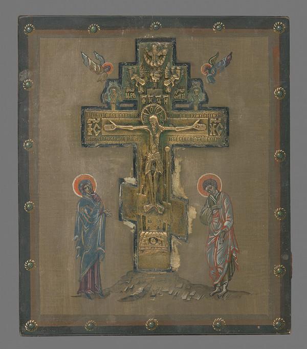 Neznámy autor - Ukrižovanie - Kalvária (ikona)