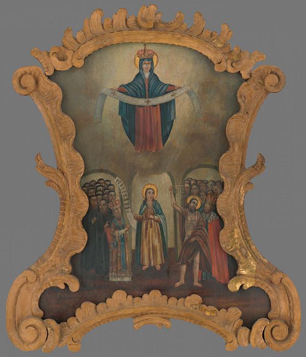 Slovenský maliar zo začiatku 19. storočia - Pokrov Panny Márie