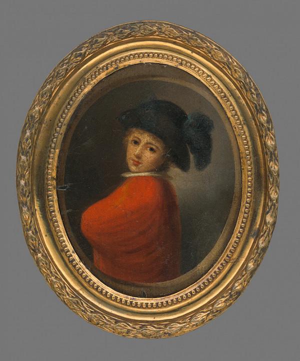 Ján Rombauer – Miniatúrna podobizeň muža v klobúku
