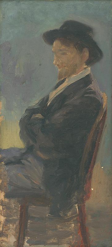 Maximilián Kurth - Štúdia k podobizni muža