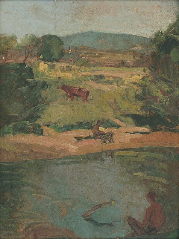 Ernest Rákosi – Krajina s potokom