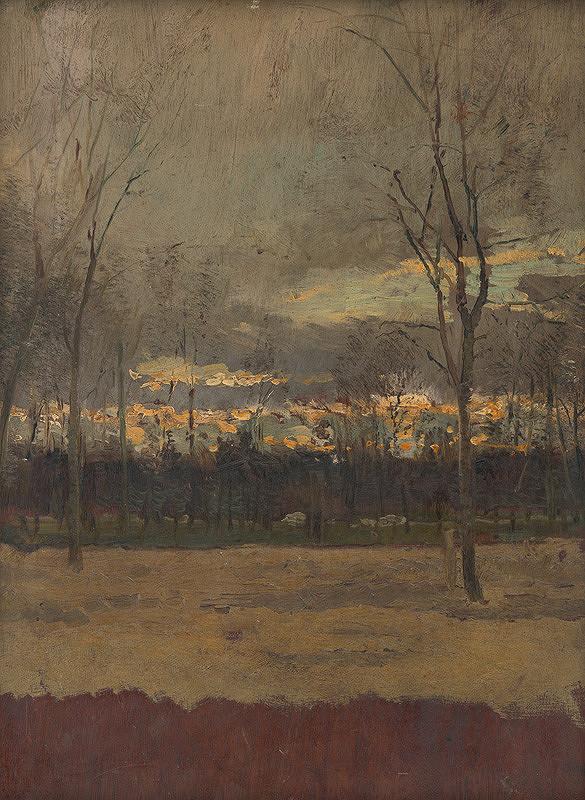 Ladislav Mednyánszky – Západ slnka